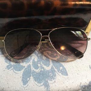 Tory Burch hologram aviator sunglasses